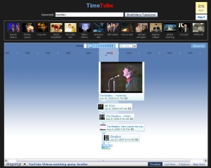 "TimeTube for ""The Beatles\"" - 50 year span"