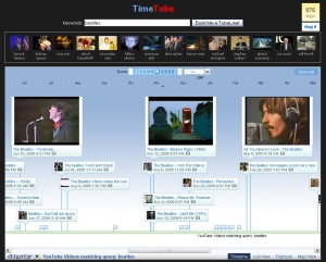 "TimeTube for ""The Beatles\"" - 1 year span"